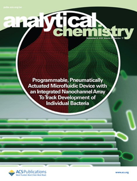 Programmable, Pneumatically Actuated Microfluidic Device with an Integrated Nanochannel Array To Track Development of Individual Bacteria
